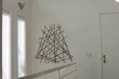Abstract geometric stick art