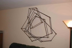 Geometric layered art piece